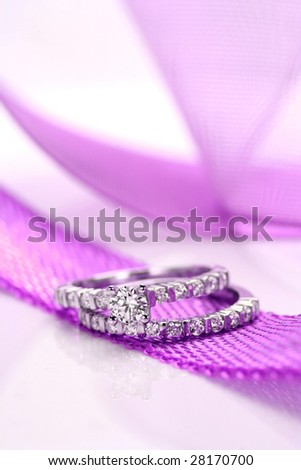 A close up of Diamond ring-J.