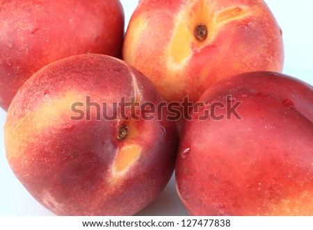 A close up of nectarines.