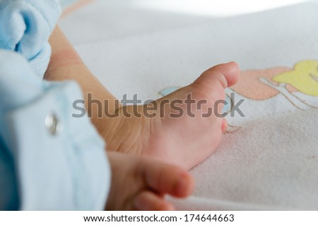A close-up of tiny baby foot/New born baby foot