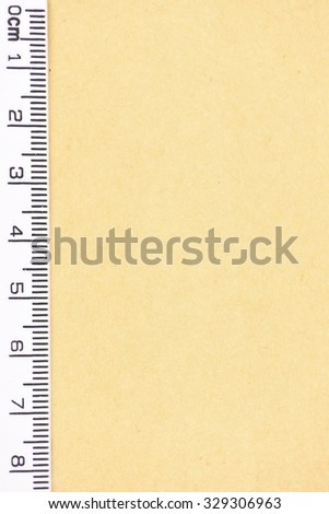 A close up photo of a small ruler