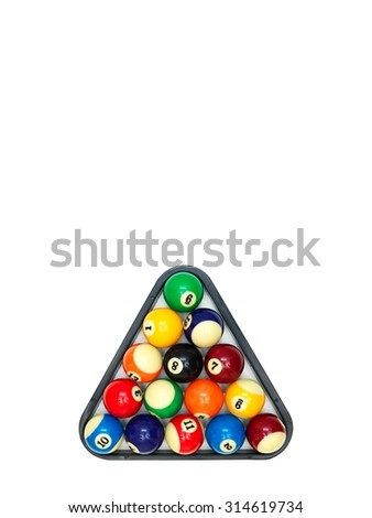 A close up shot billiard balls - stock photo