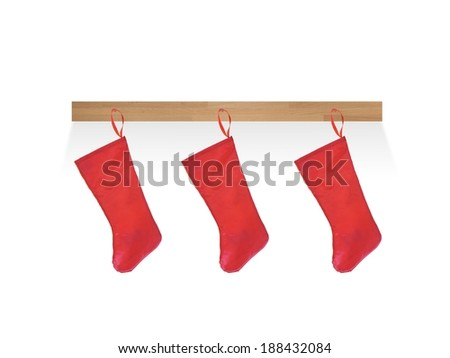 A close up shot of a christmas stocking - stock photo