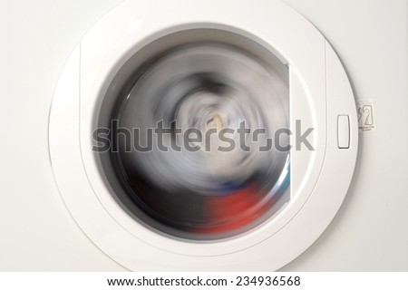 A close up shot of a clothes dryer - stock photo