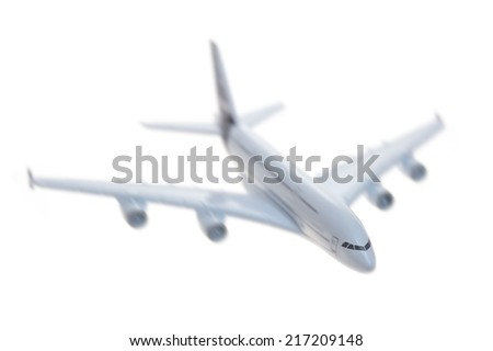 A close up shot of a die cast model plane - stock photo
