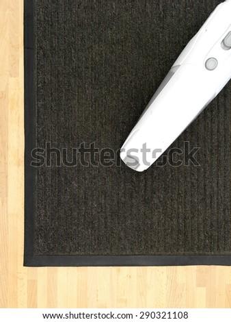 A close up shot of a door mat - stock photo