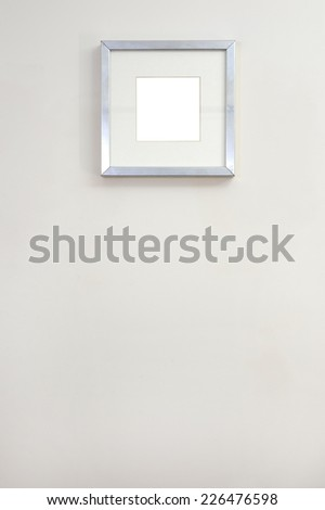 A close up shot of a hanging picture frame - stock photo