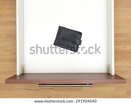 A close up shot of a household utility drawer - stock photo