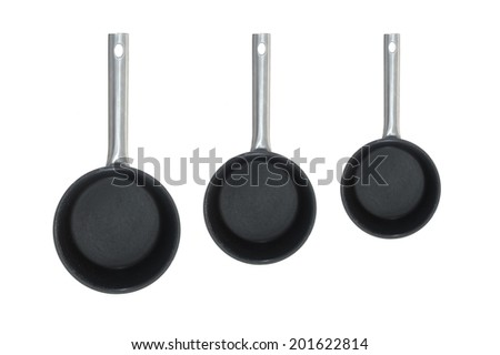 A close up shot of a kitchen saucepan - stock photo