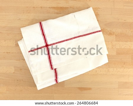 A close up Shot of a kitchen tea towel - stock photo