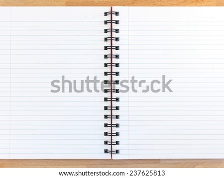 A close up shot of a note book