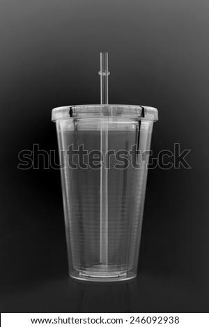 A close up shot of a retro soda cup - stock photo