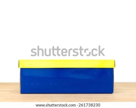 A close up shot of a shoe box - stock photo