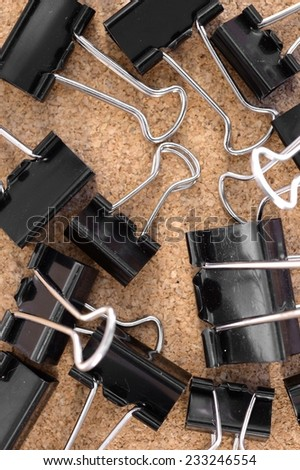 A close up shot of a stationery clips - stock photo