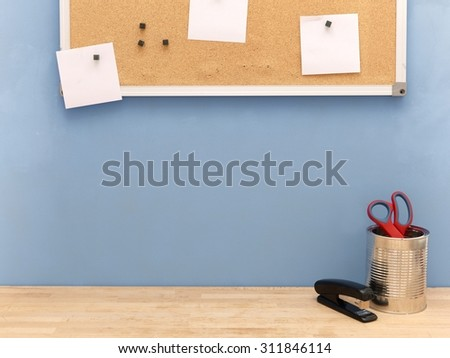 A close up shot of a work station - stock photo