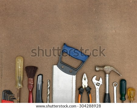 A close up shot of a workshop background - stock photo