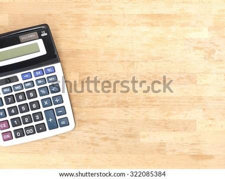 A close up shot of an oversized calculator - stock photo