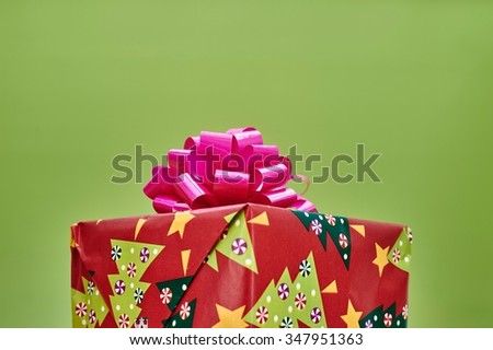 A close up shot of christmas presents