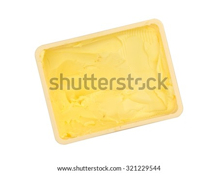A close up shot of cooking butter - stock photo