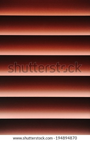 A close up shot of hardwood blinds silhouetted - stock photo