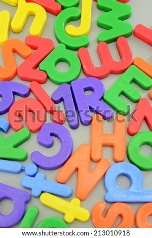 A close up shot of magnetic letters