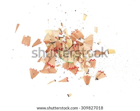 A close up shot of pencil shavings - stock photo