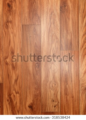 A close up shot of wood flooring - stock photo