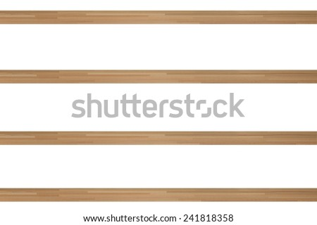 A close up shot of wooden shelves - stock photo