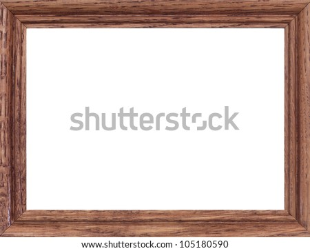 A close up shote of a vintage wooden photo frame - stock photo