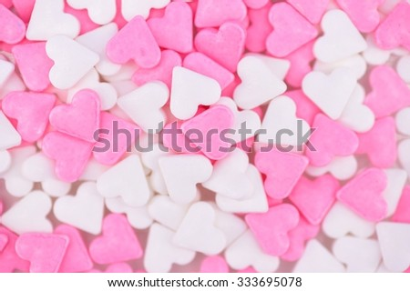 A close up studio shot of cake decorations - stock photo