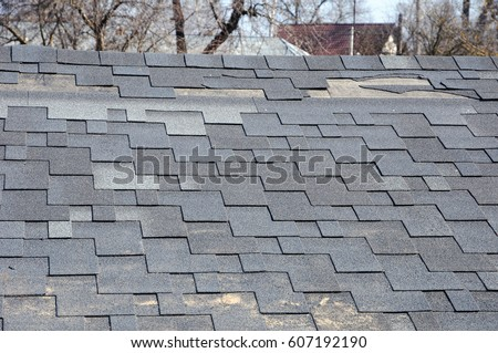 Damaged Roof Shingles Stock Images Royalty Free Images
