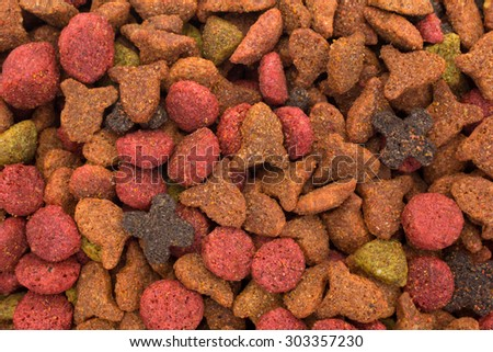 A close view of a generic blend of cat food. - stock photo
