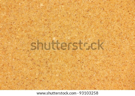 A close view of a graham  cracker pie crust.