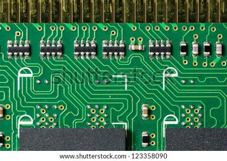 Closeup Printed Circuit Board Components Stock Photo (Royalty Free ...