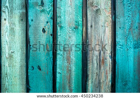 A closeup of paintings on the wooden boards - stock photo