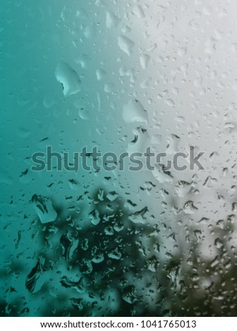 closeup photograph raindrops on opposite side stock photo royalty
