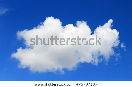 A cloud float in the sky