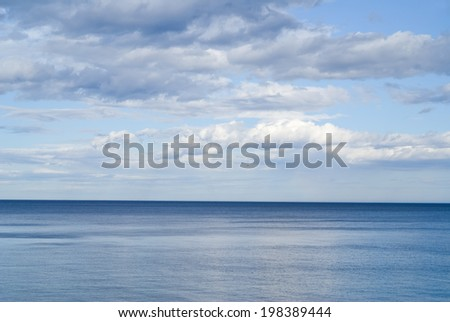 A cloudscape on sea.