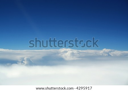 A cloudscape view from an airplne. Ideally for your use