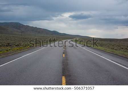 A cloudy empty road