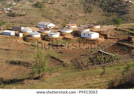 a cluster of homes in kwazulu natal south africa