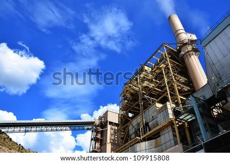 A coal power plant - stock photo