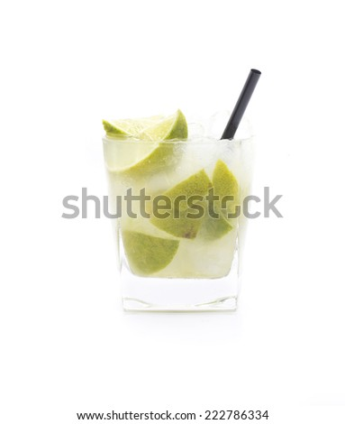 a cocktail called caipirinha or  Caipiroska, according drink is based - stock photo