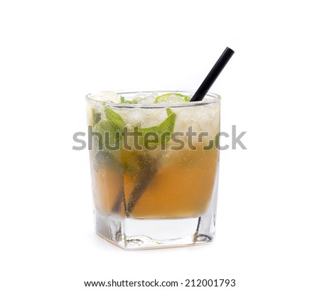 a cocktail that is based rum and mint, mojito called