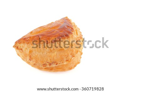 A coconut puff isolated on white background.