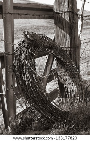 at cowboy fence stock images royaltyfree images