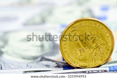 a coin in the USA dollar