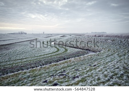 A cold day in the Dutch countryside. Filtered for desolate effect.