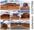 A collage of photos about Monument Valley, Utah, USA - stock photo