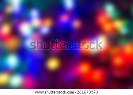 A collection of colorful abstract and blurred electric lights - stock photo