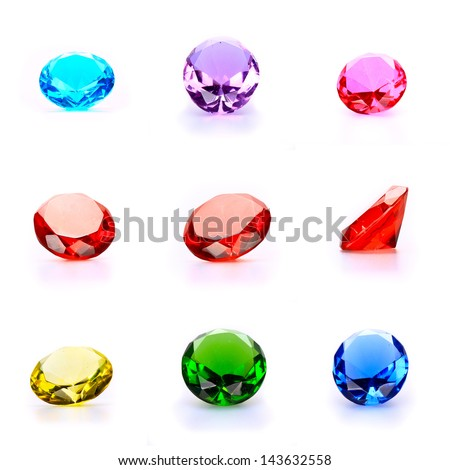 A collection of faceted gemstones - stock photo